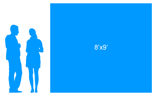 8'x9' To Scale Vinyl Banner