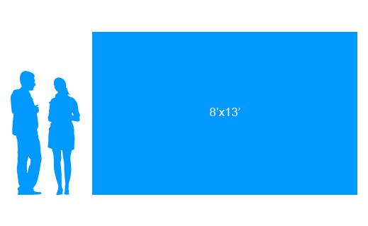 8'x13' To Scale Vinyl Banner