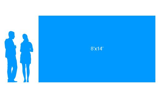 8'x14' To Scale Vinyl Banner