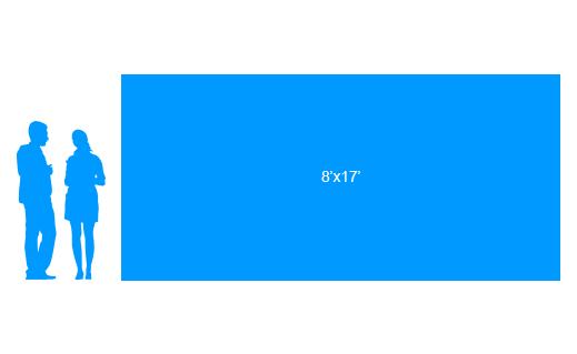 8'x17' To Scale Vinyl Banner