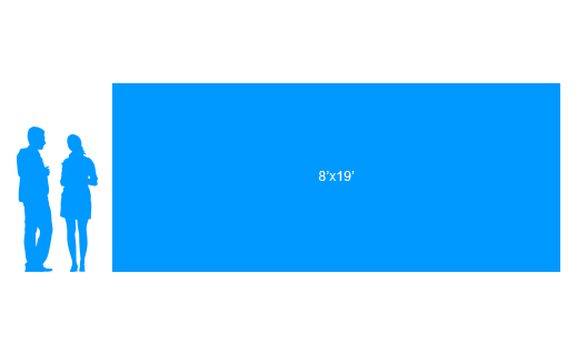 8'x19' To Scale Vinyl Banner