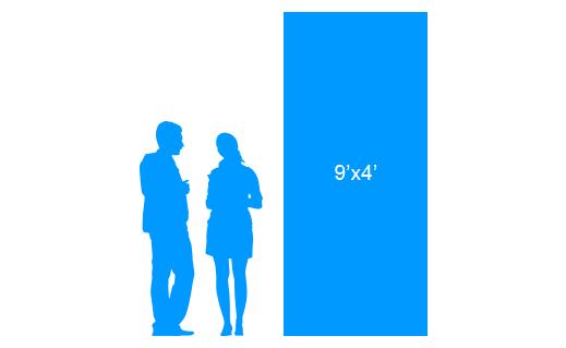 9'x4' To Scale Vinyl Banner