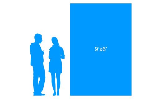 9'x6' To Scale Vertical Vinyl Banner