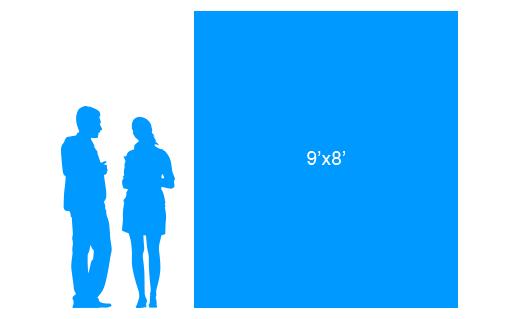 9'x8' To Scale Vertical Vinyl Banner