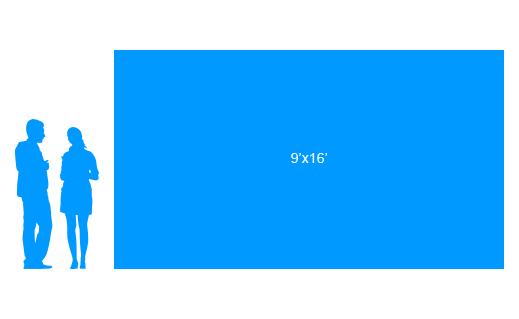 9'x16' To Scale Vinyl Banner