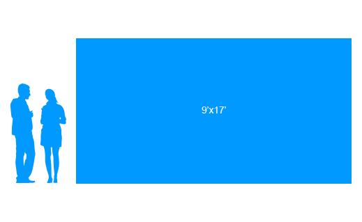9'x17' To Scale Vinyl Banner