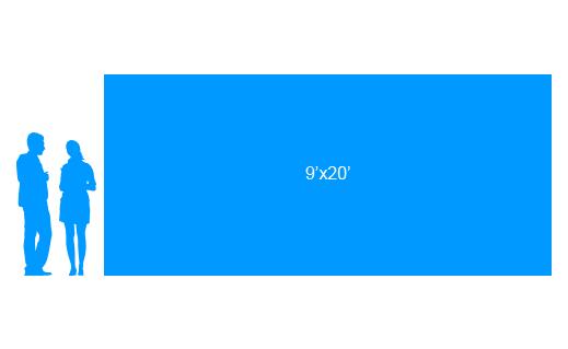 9'x20' To Scale Vinyl Banner