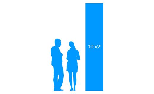 10'x2' To Scale Vertical Vinyl Banner