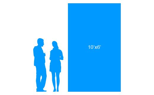 10'x6' To Scale Vertical Vinyl Banner