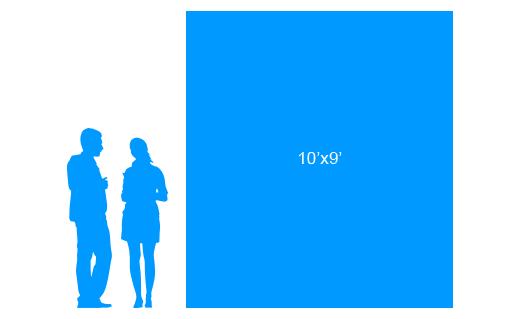 10'x9' To Scale Vertical Vinyl Banner