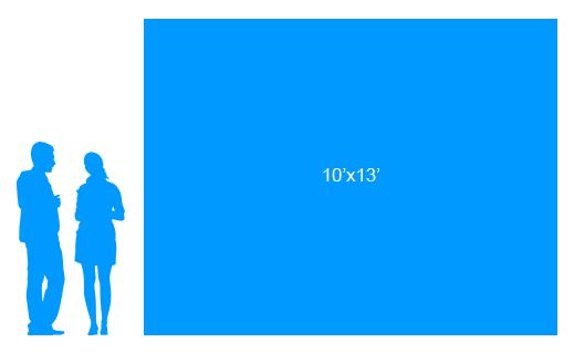 10'x13' To Scale Vinyl Banner
