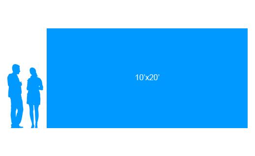 10'x20' To Scale Vinyl Banner