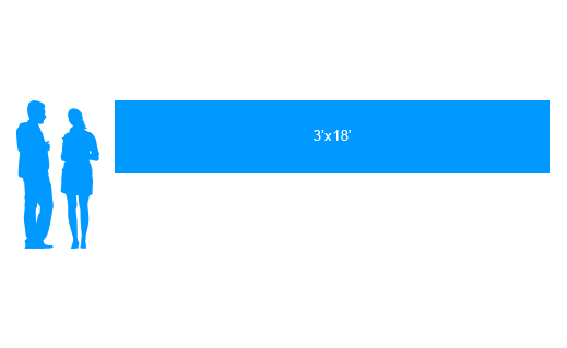 3'x18' To Scale Vinyl Banner