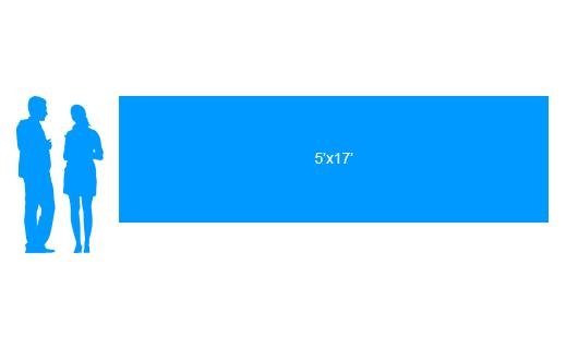 5'x17' To Scale Vinyl Banner