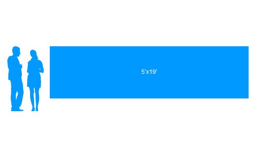 5'x19' To Scale Vinyl Banner