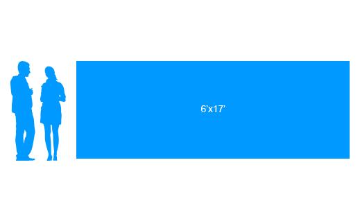 6'x17' To Scale Vinyl Banner