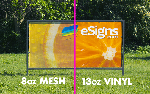 Solid Vinyl vs Mesh Vinyl Banner Comparison