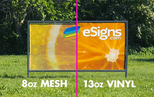 Solid Vinyl vs Mesh Vinyl Banner Comparison