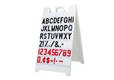 Signicade White Message Board, 3' x 2'