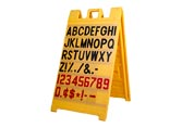 Signicade Yellow Message Board, 3' x 2'