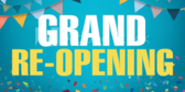 Grand Re-Opening Ribbon Banner