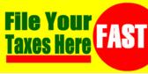Tax Filing Yard Signs