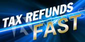 Neon Blue Fast Refund Tax Template