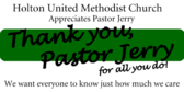 thank you pastor