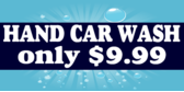 Hand Car Wash With Price Textual Banner Design