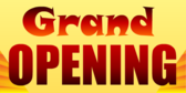 Grand Opening Text Banner