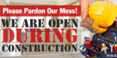 open construction pardon dust