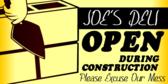 open during construction brick vector