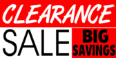 clearance Store Sale Banner