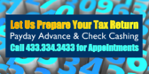 Let Us Prepare Your Tax Return