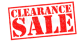 clearance Sale Going On Now Banner