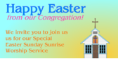 happy easter from our congregation