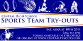 Team Sports Tryout Banner Design