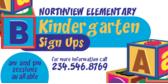 Kindergarten Enrollment Sign