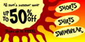 Big and Tall Summer Clothing Sale Sign