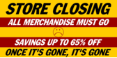 store closing sale vinyl banner template