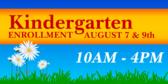 Kindergarten Enrollment Banner