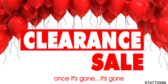 clearance sale going gone banner