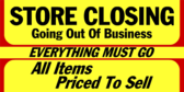 everything must go yard sign template
