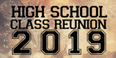 High School Year Reunion Signs