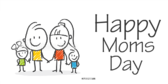 Happy Moms Day Kids Banner