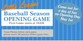 Baseball Game Banner Design width=