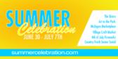 Summer Celebration Sign