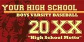Varsity Baseball Spirit Banner