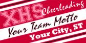 High School Team Cheer Banner Design