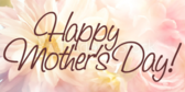 Happy Mothers Day Close Up Flower Banner